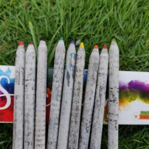 Colour Pencils, Newspaper Pencils, Eco- friendly Stationery, Pencils, Stationery
