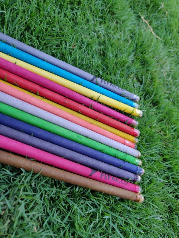 Newspaper Pencils, Eco- friendly Stationery, Pencils, Stationery, Plantable Pencils