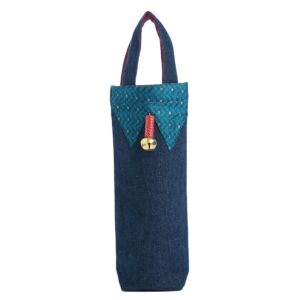 Bottle Bag, Denim Bottle Bag, Upcycled Bottle Bag