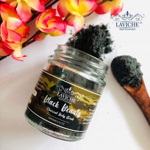 "Black Beauty"" Charcoal Body Scrub, Body Scrub"
