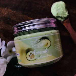 Avocado Face and Body Cream Scrub, Face Scrub, Natural Scrub, Body Care