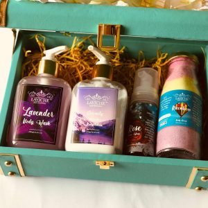 Pamper Trunk Gift Box,Luxury Body Care Gift Box, Bath and Body Care