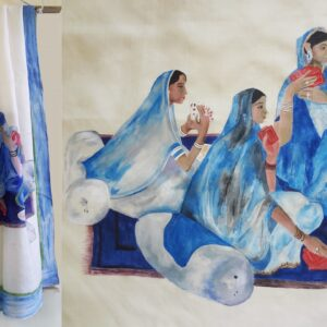 Saree, Hand Painted Saree, Designer Saree