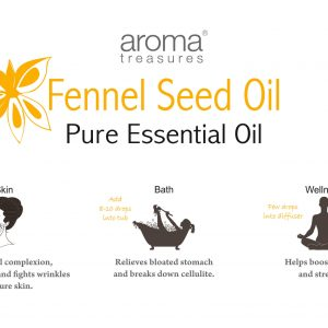 Aroma Treasures Fennel Seed Essential Oil 100% Pure & Natural, Essential Oil
