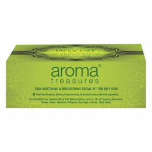 Aroma Treasures Skin Whitening and Brightening Facial Kit For Oily Skin - Single Time Use, Facial Kit, Herbal Facial Kit