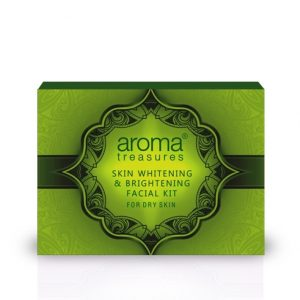 Aroma Treasures Skin Whitening and Brightening Facial Kit For Dry Skin - Single Time Use, Facial Kit, Herbal Facial Kit