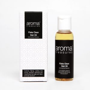 Aroma Treasures Flake Clean Hair Oil, Anti Dandruff Oil, Hair Care Oil