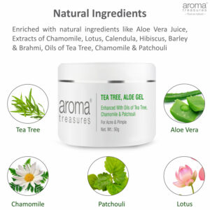 Aroma Treasures Tea Tree Aloe Gel , Face Gel
