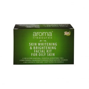 Aroma Treasures Skin Whitening and Brightening Facial Kit For Oily Skin, Facial Kit, Herbal Facial Kit