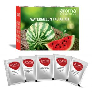 Aroma Treasures ~ Watermelon Single Time Use Facial Kit ~ with Face Wash, Scrub, Moisturising cream, Face Gel and Face mask