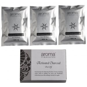Aroma Treasures Activated Charcoal Peel Off Mask (Pack of 3)