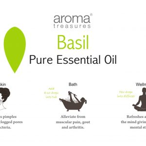 Aroma Treasures Basil (sweet) Essential Oil 100% Pure & Natural