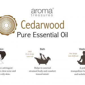 Aroma Treasures Cedar Wood Essential Oil 100% Pure & Natural