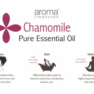 Aroma Treasures Chamomile German Essential Oil (10% in Jojoba Oil) 100% Pure & Natural, Essential Oil