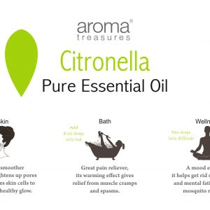 Aroma Treasures Citronella Essentail Oil 100% Pure & Natural