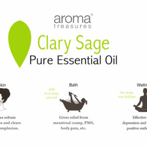 Aroma Treasures Clary Sage Essentail Oil 100% Pure & Natural, Essential Oil