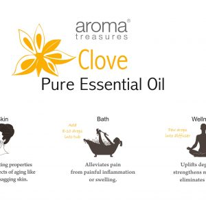 Aroma Treasures Clove Essentail Oil 100% Pure & Natural