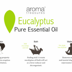 Aroma Treasures Eucalyptus Essential Oil 100% Pure & Natural