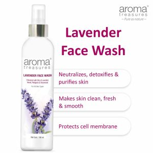Aroma Treasures Lavender Face Wash For all Skin Type
