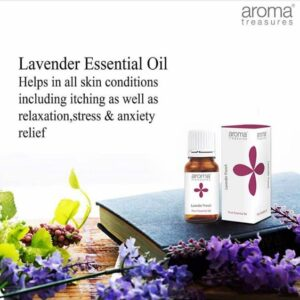 Aroma Treasures Lavender French Essentail Oil 100% Pure & Natural, Essential Oil