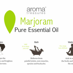 Aroma Treasures Marjoram Essential Oil 100% Pure & Natural, Essential Oil