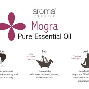 Aroma Treasures Mogra Absolute Essential Oil 100% Pure & Natural, Essential Oil