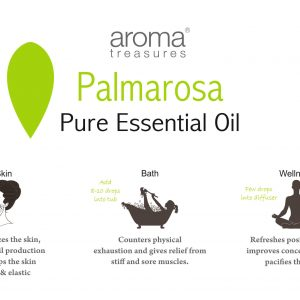 Aroma Treasures Palmarosa Essential Oil 100% Pure & Natural - 10ml