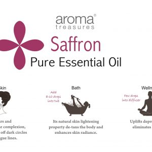 Aroma Treasures Saffron (Infused) Essential Oil 100% Pure & Natural, Essential Oil
