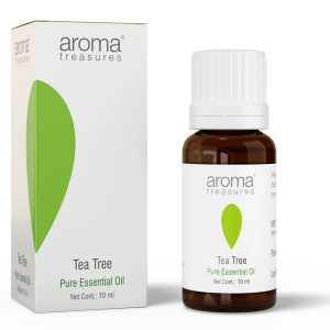 Aroma Treasures Tea Tree Essential oil – 100% Pure, Multipurpose Essential Oil for Acne, Hair, Skin, Body, Dandruff, Essential Oil