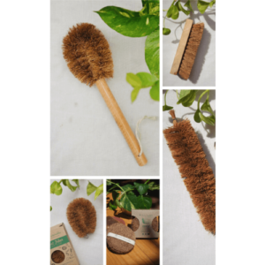 Kitchen Scrub, Eco-Friendly, Biodegradable, Coir, Coconut Fibre, laundry brush, bottle cleaner, Coconut Fiber Cleaning Kit (Pack of 5 Coir Brushes)