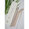 stainless steel straw, bamboo straw, wooden straw, natural, eco friendly, natural straw, handmade in india, india made, copper straw, reusable straw, eco friendly straw, Reusable Copper Straw Pack of 4 with Cleaner ((2 Bent & 2 Straight))