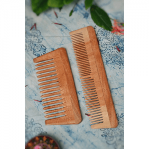 neem comb, wooden comb, Eco-Friendly, Biodegradable, zero waste, zero waste living, Neem Comb – Pack of 2 (Small and Big)