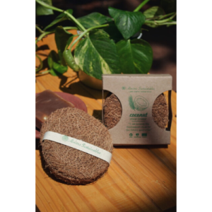Kitchen Scrub, Eco-Friendly, Biodegradable, Coir, Coconut Fibre, Coconut Fiber Dish Scrub (Pack of 3)