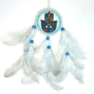 Hamsa dream catcher, colorful dream catcher, car hanging, dream catcher