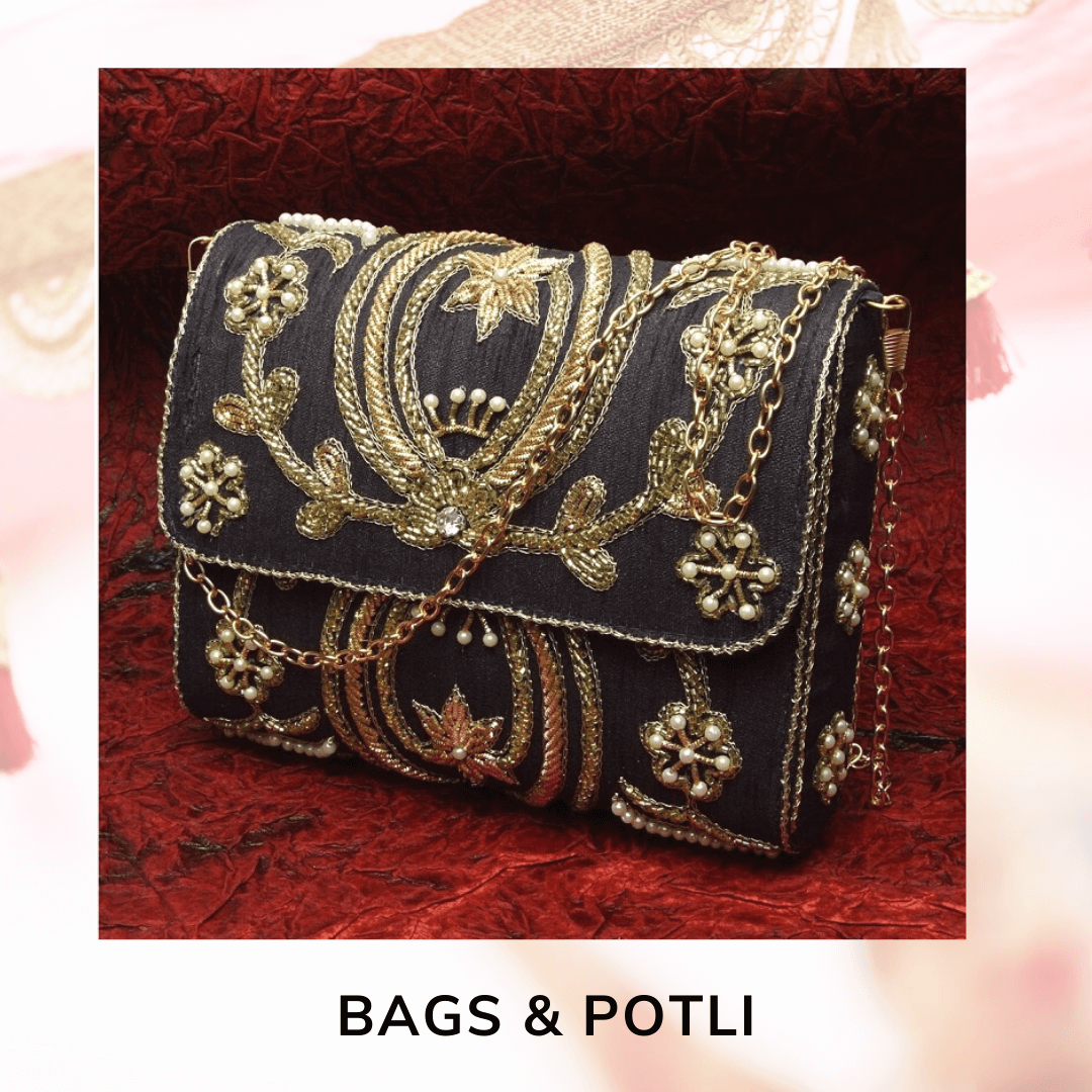 wedding clutch, wedding bags, wedding potli bags