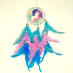 Unicorn dream catcher, colorful dream catcher, car hanging, dream catcher