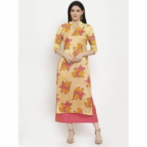 yellow kurta set, yellow, yeloow kurti, pink skirt