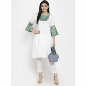 white, white kurti, white kurta set, casuals, casual dress