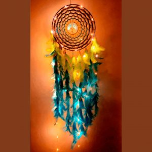 LED dream catcher, LED wall hanging, dream catcher wall hanging, dreamcatcher