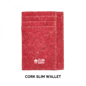 cork slim wallet, slim wallet, vegan slim wallet