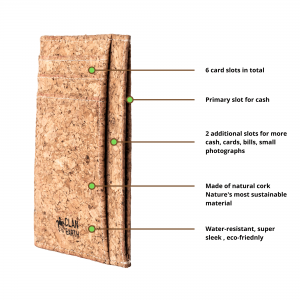 cork slim wallet, cork wallet