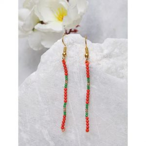 Multi Color String Dangler Earrings