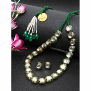Komal String Necklace and Earrings Set