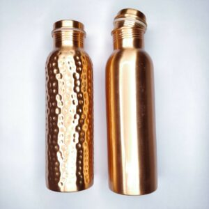 Copper bottle, reusable bottle, hammered copper bottle, plain copper bottle