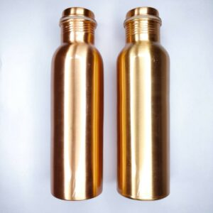 Copper bottle, reusable bottle, plain copper bottle