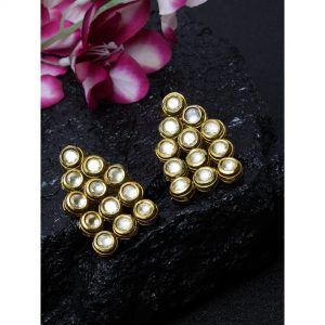 Dugristyle Drops Of Round Kundan, earrings, earring, jewellery