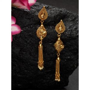 Dugristyle Chitkari Gold-Plated Earring, earrings, earring, jewellery
