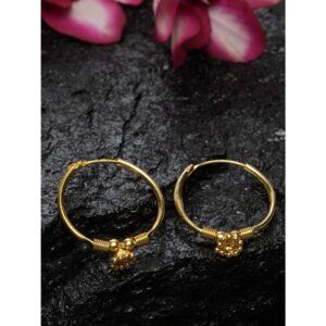 Dugristyle Gold-Plated Hoop Earring - Plain, earrings, earring, jewellery