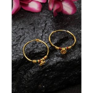 Dugristyle Gold-Plated Hoop Earring - Colorful, earrings, earring, jewellery