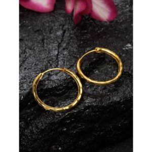 Dugristyle Gold-Plated Hoop Earring - Simple, earrings, earring, jewellery